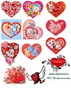 Водорастворимая бумага с рисунками №9 Валентинки