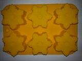 Снежинки2 (лист 6 шт.) силиконовая форма