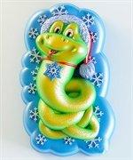 Змея в шапке  2D силиконовая форма