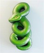Змея 2D силиконовая форма